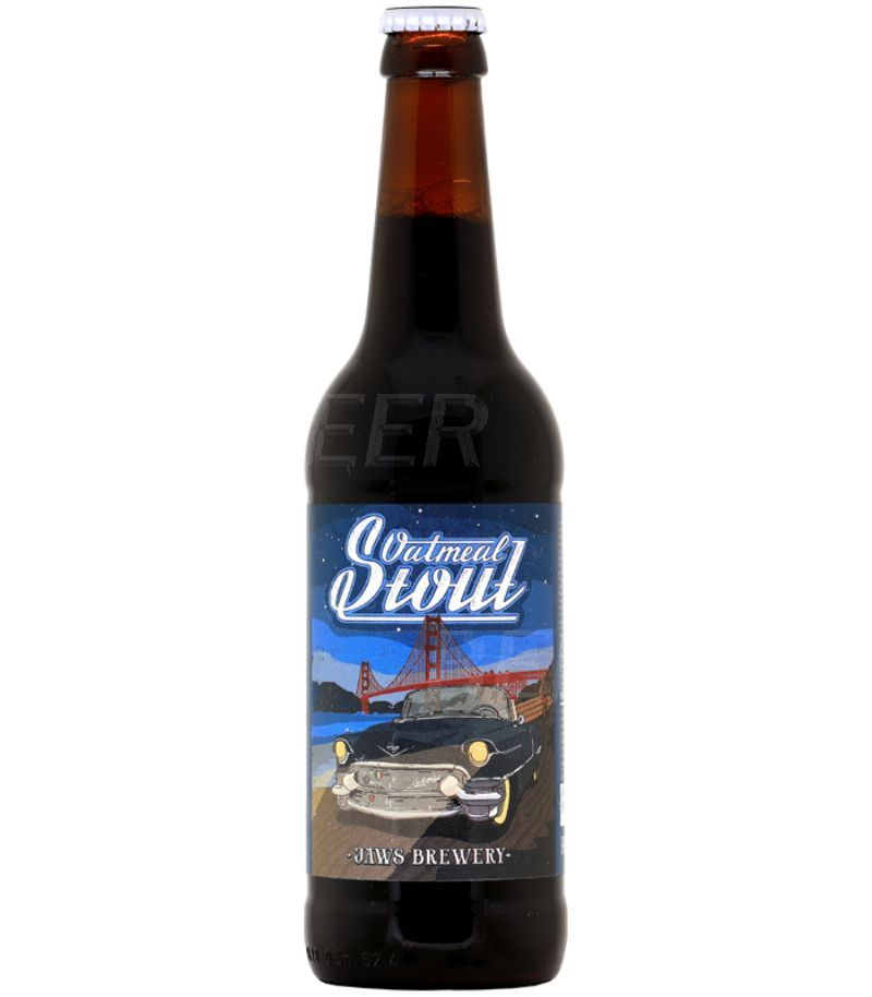 Джоус Овсяный стаут/Jaws Oatmeal Stout 0,5л.*20